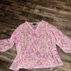Susan Graver sheer blouse size 1X